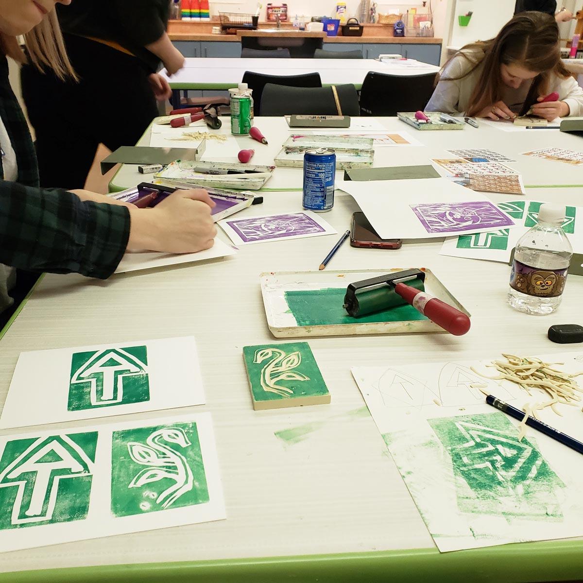 Printmaking activity