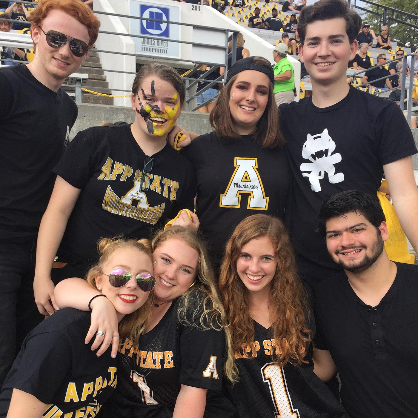Art Haus residents at football game