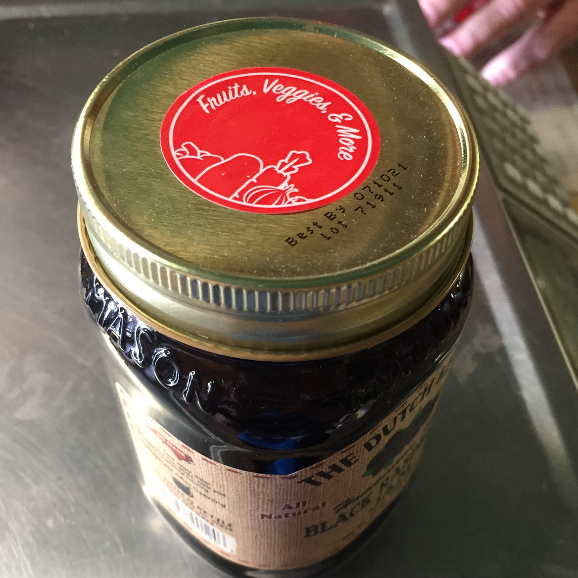 Jar top label