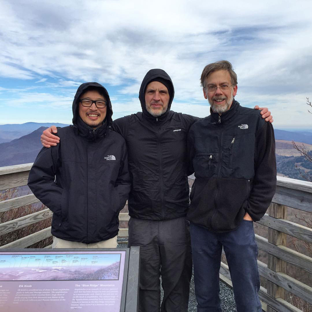 Graphic Design faculty atop Elk Knob