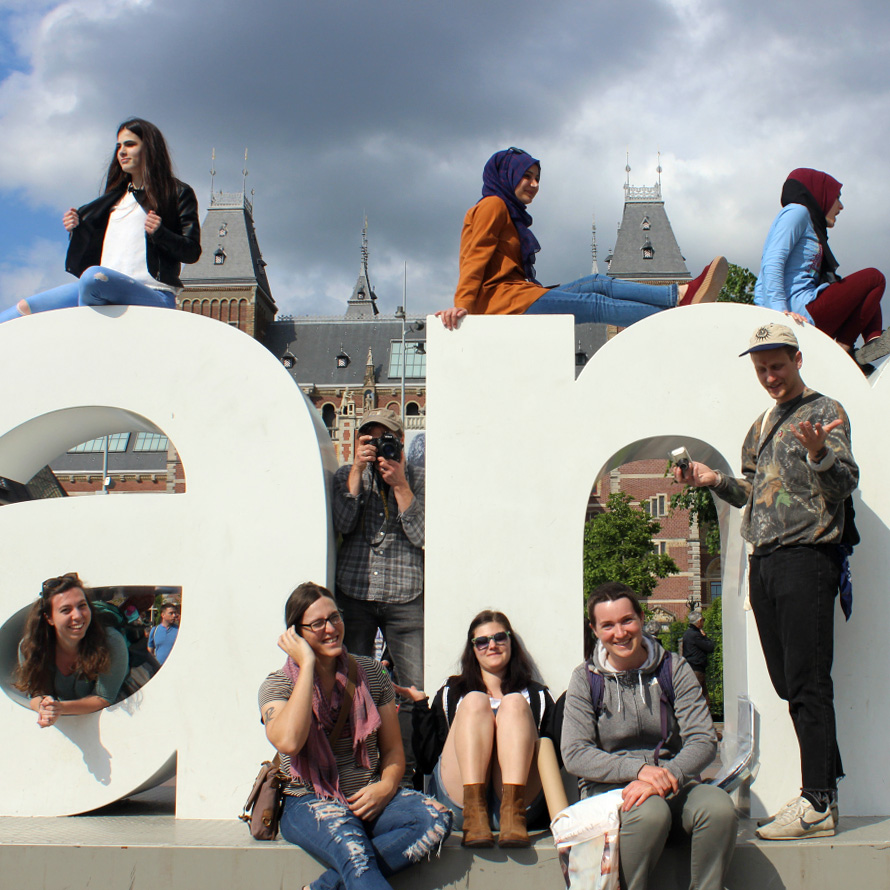 Photo of students in Amsterdam