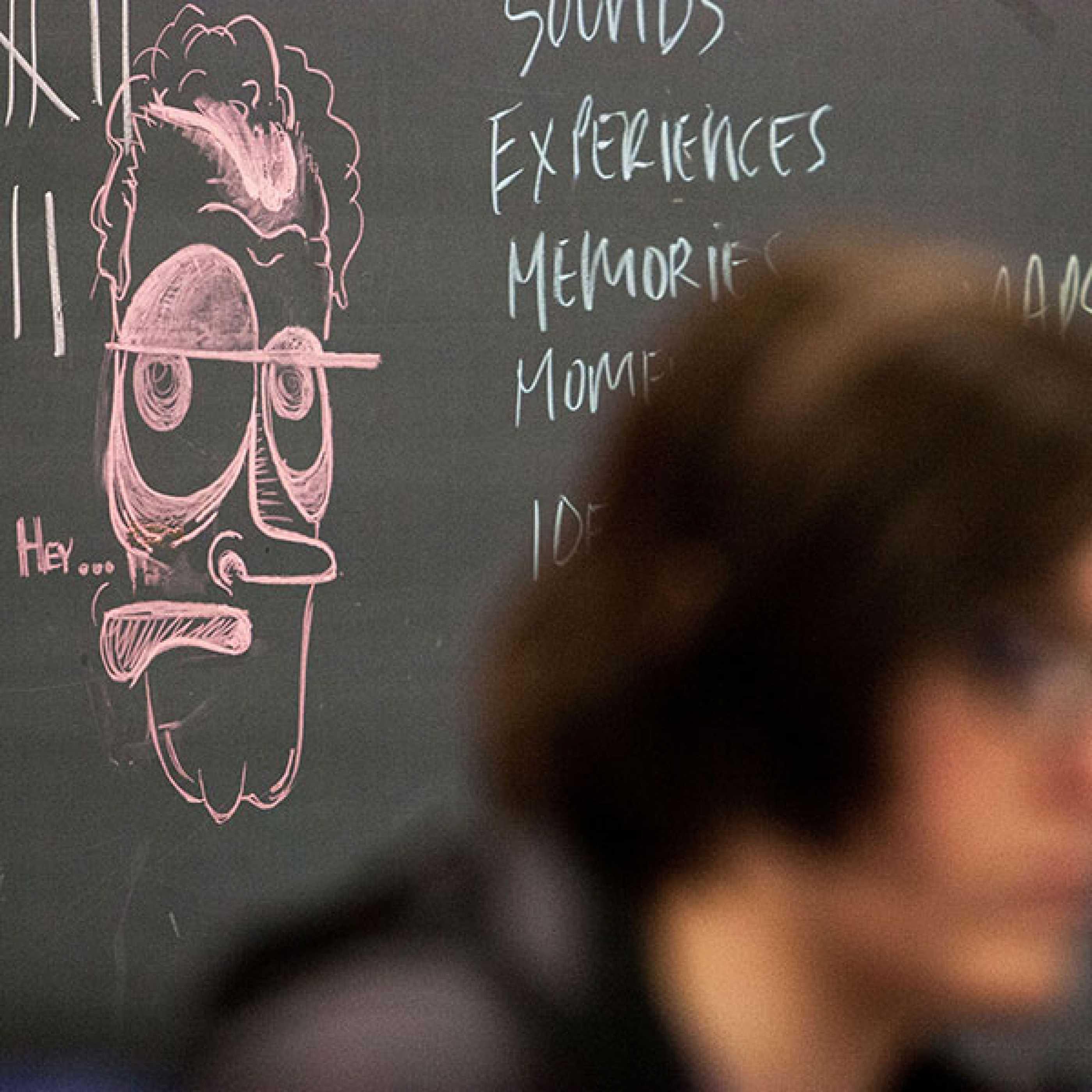Graphic Design student in studio