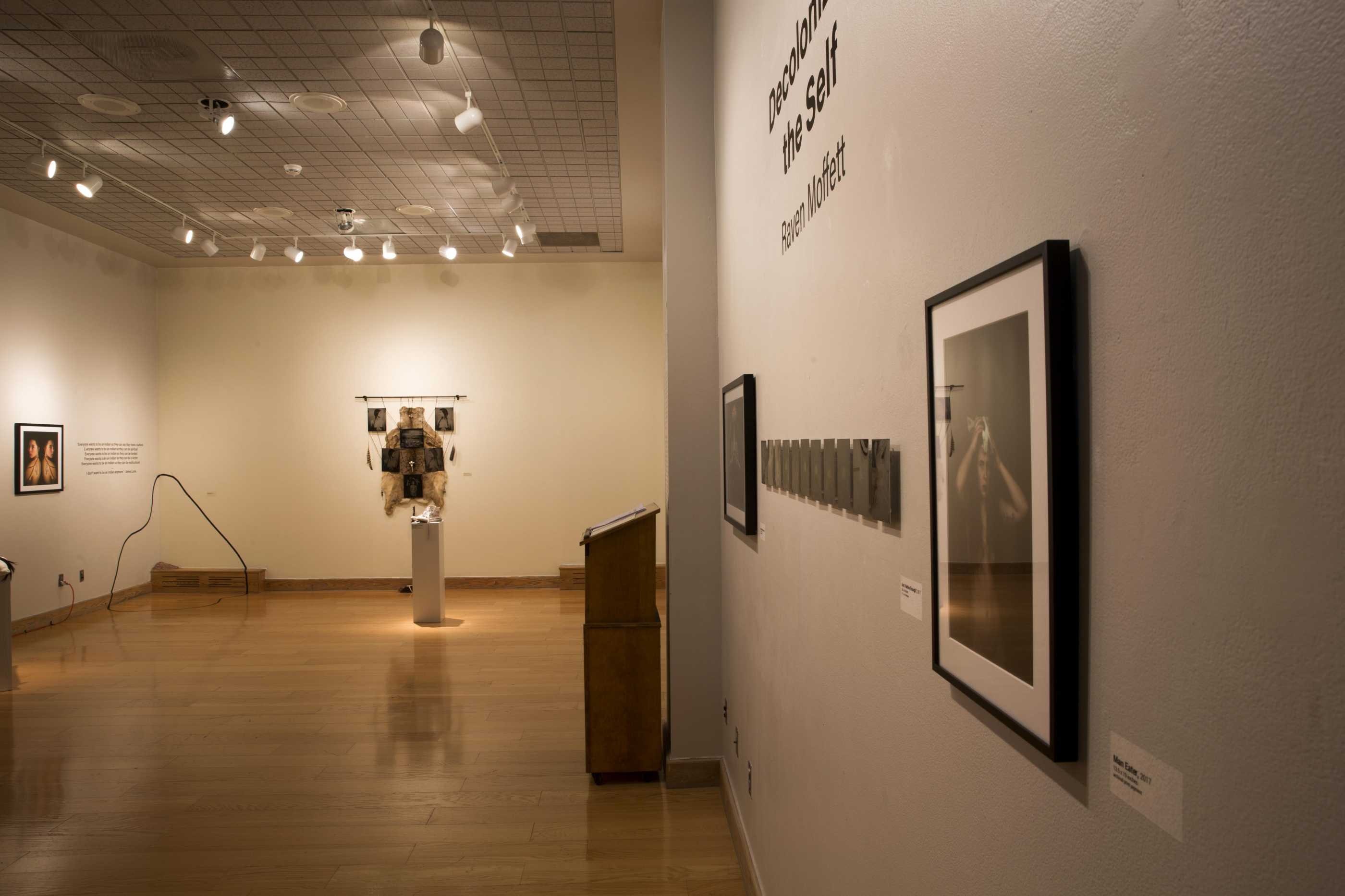 Gallery view of Raven Moffet's exhibition, Decolonizing the Self