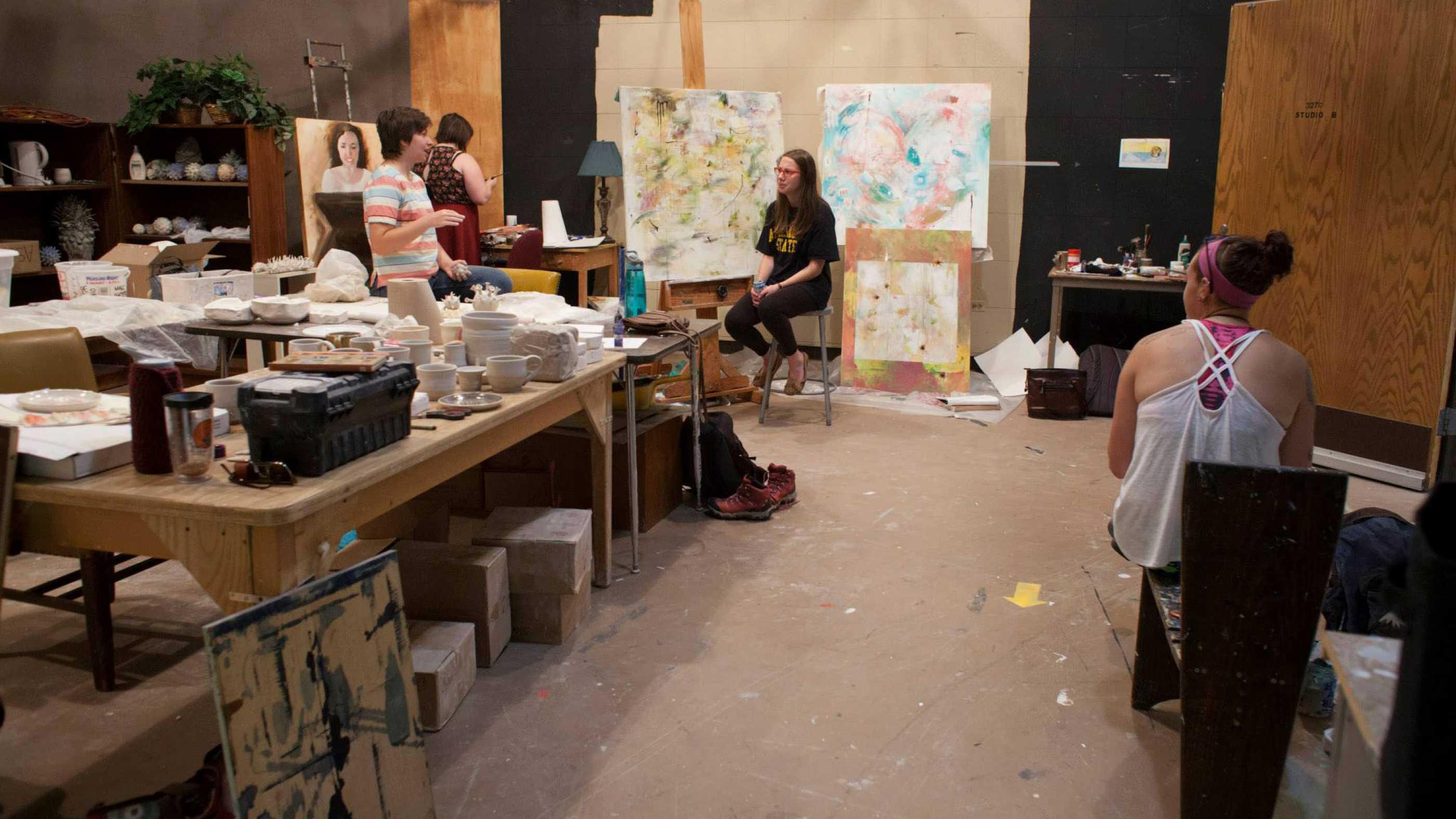 BFA Studio Art Senior Studio students