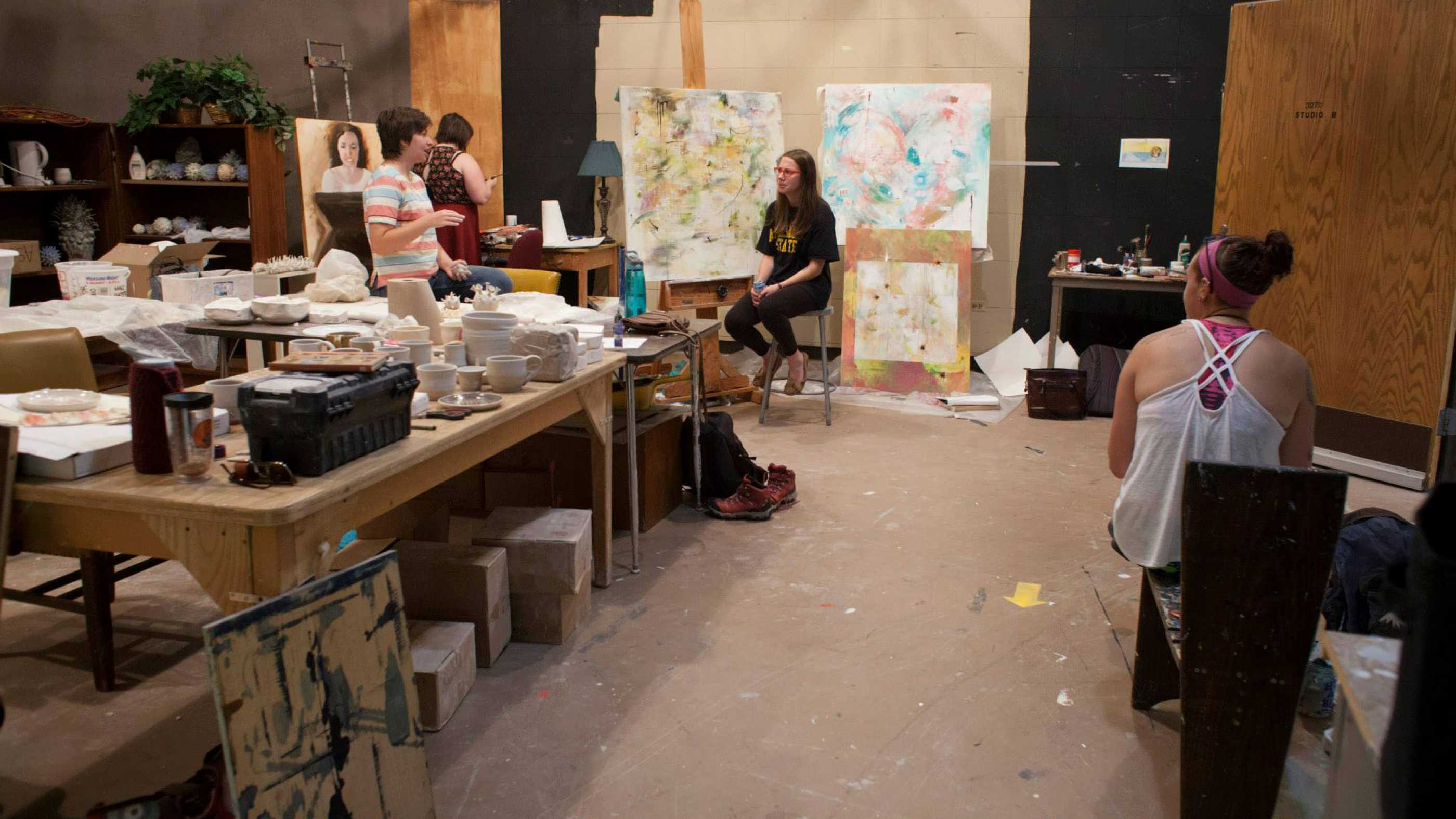 BFA Studio Art Senior Studio students