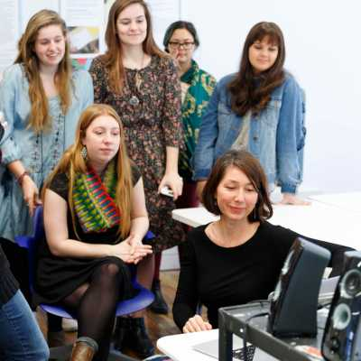Art Education students participate in video conference