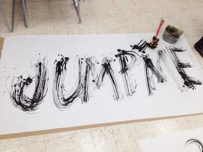 Lettering study with alternative tools