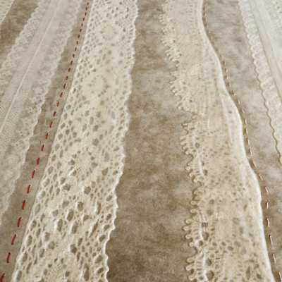 Lineage, abaca with lace and silk thread (detail)