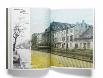 Page spread from artist's book Phlogiston, 2020, offset lithography, 46 pages