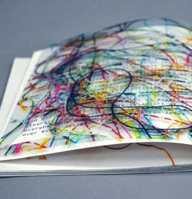 Detail of process book for Idea Lab, designed by Melanie Passajou-Dick