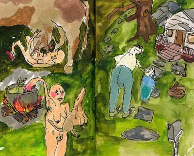 Pages from sketchbook