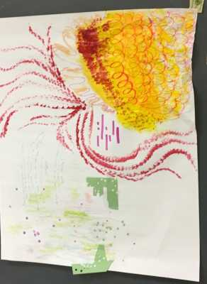 Color, shape and line variations created by Art Ed. students.