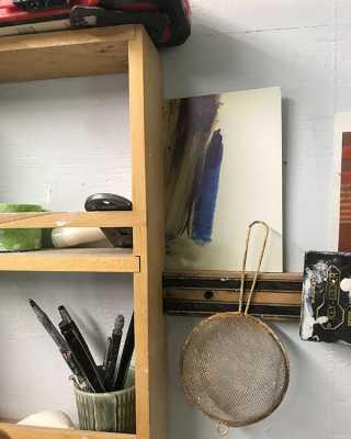 Shelves in studio