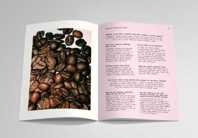 Spread from Roasted, a zine/cookbook