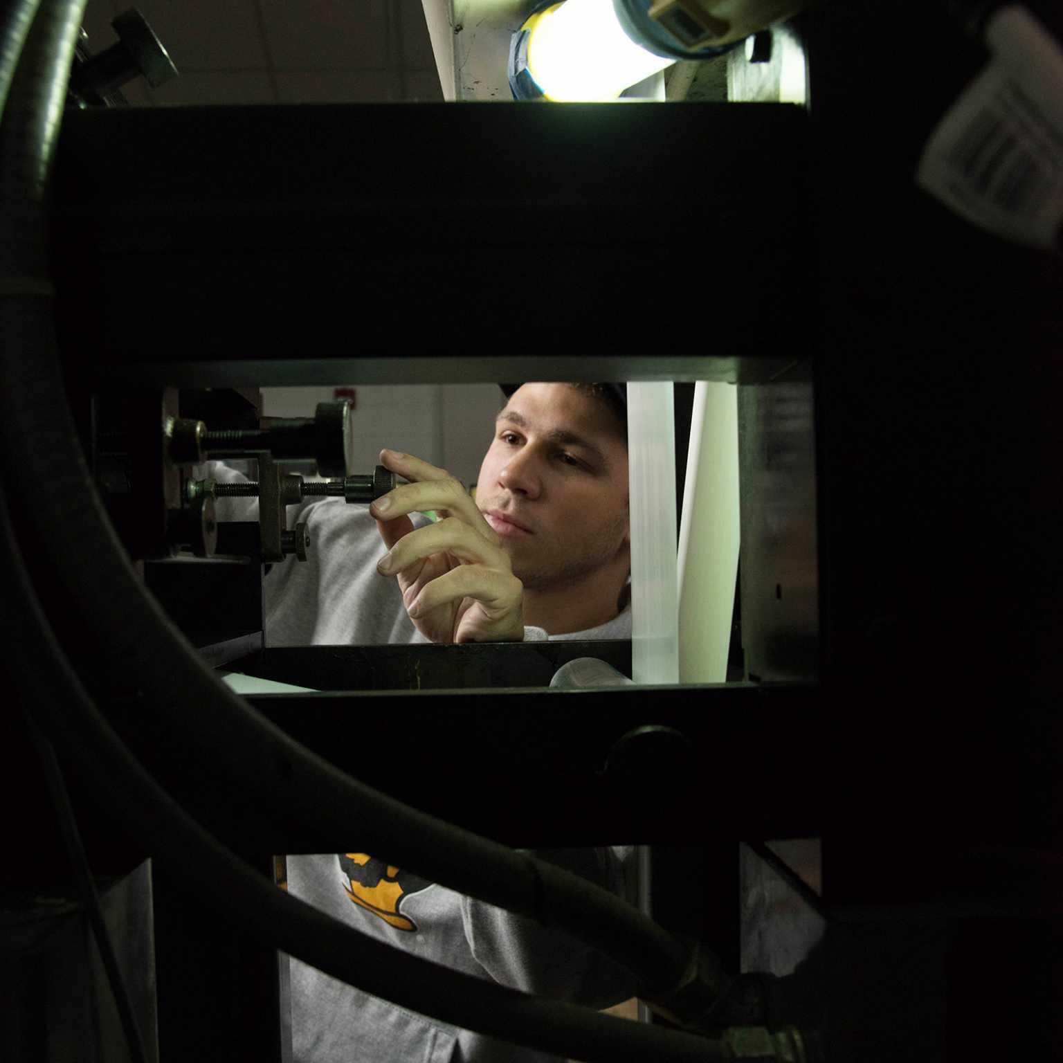 GCM student operating press