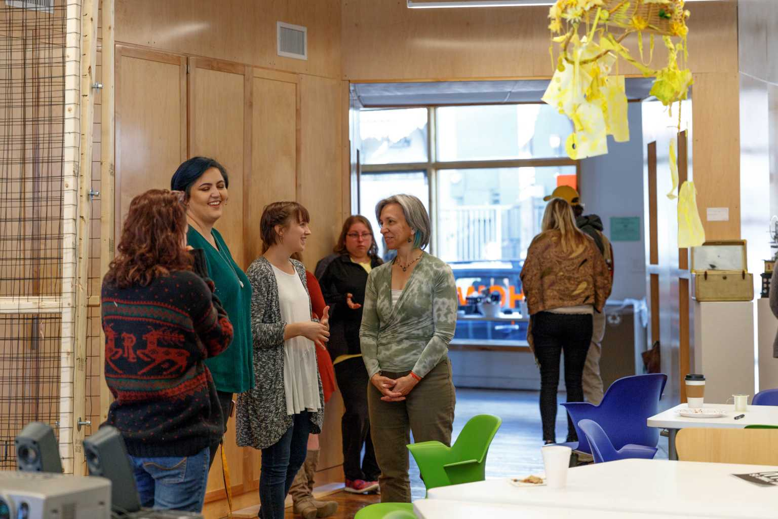Engaging conversations with Katrina Plato at the Intro Art Education Showcase.