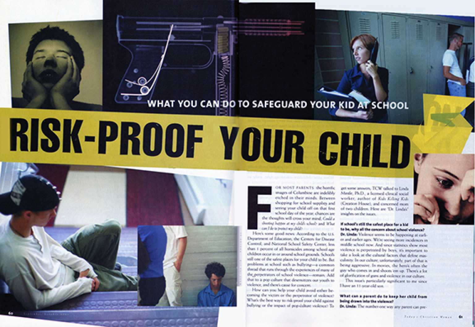 Today's Christian Woman magazine spread, October 2001
