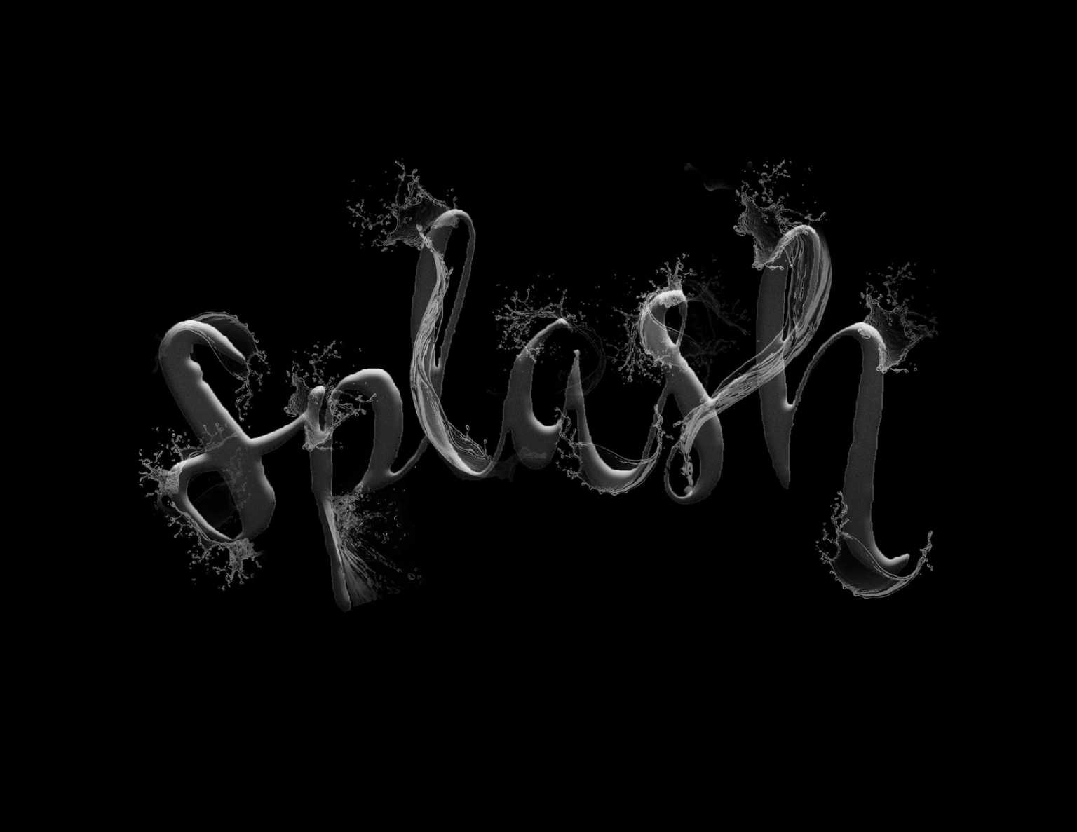 """Splash"" Digital Lettering"
