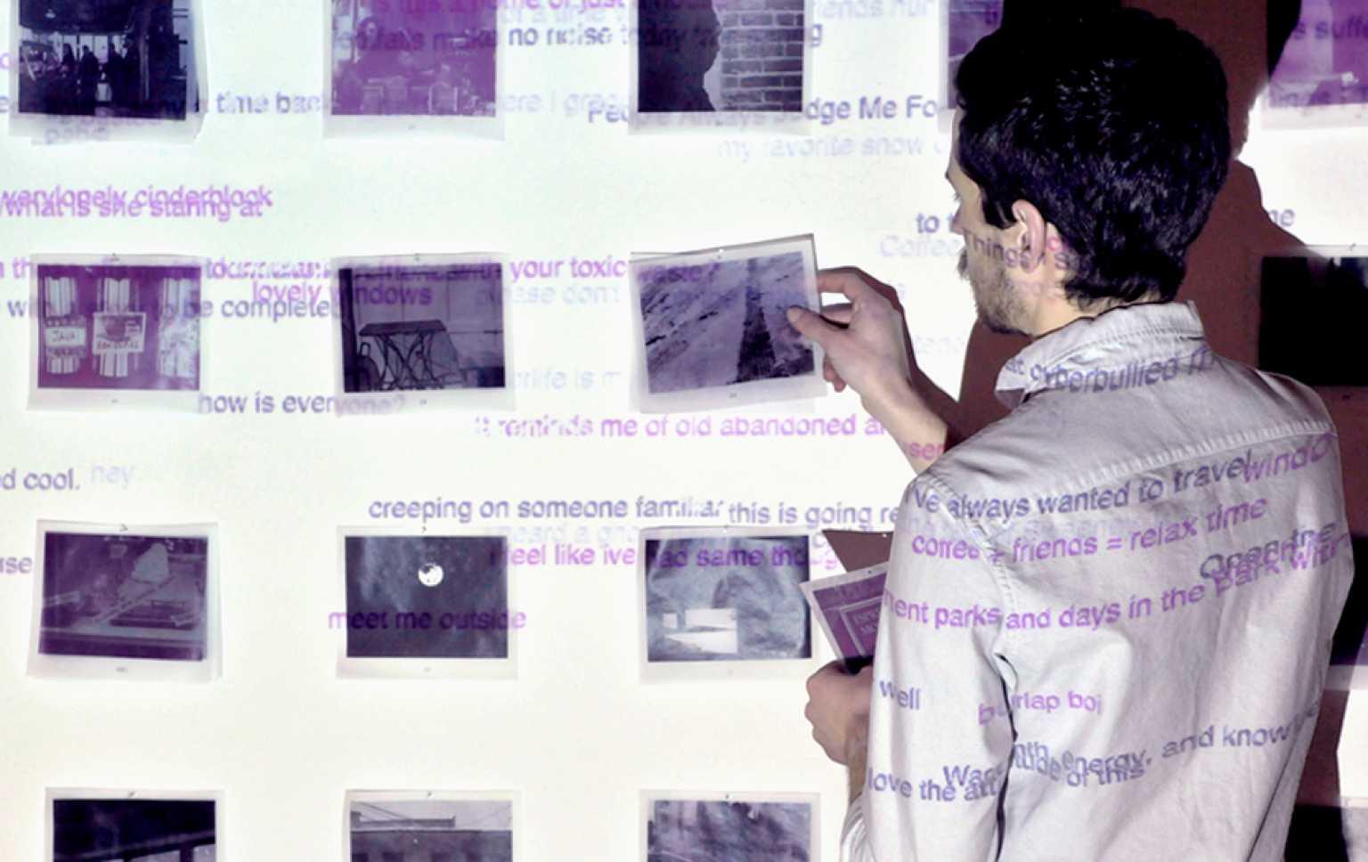 Duotone interactive installation