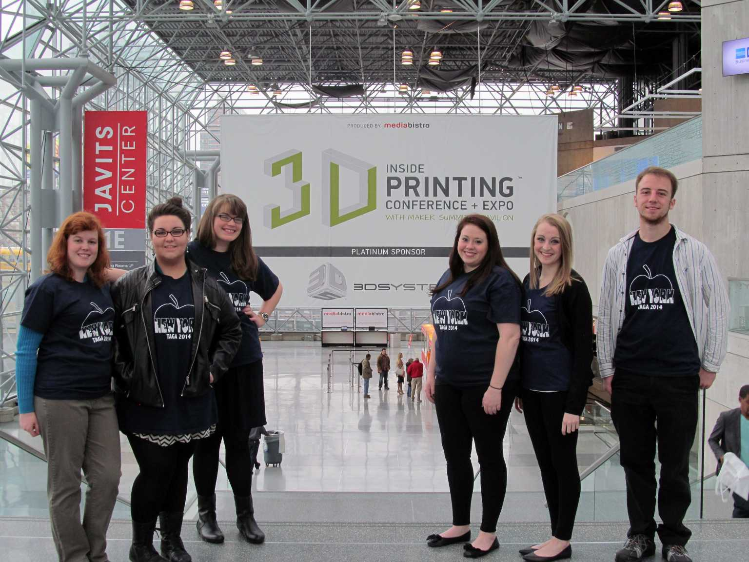 Students at 3D printing conference