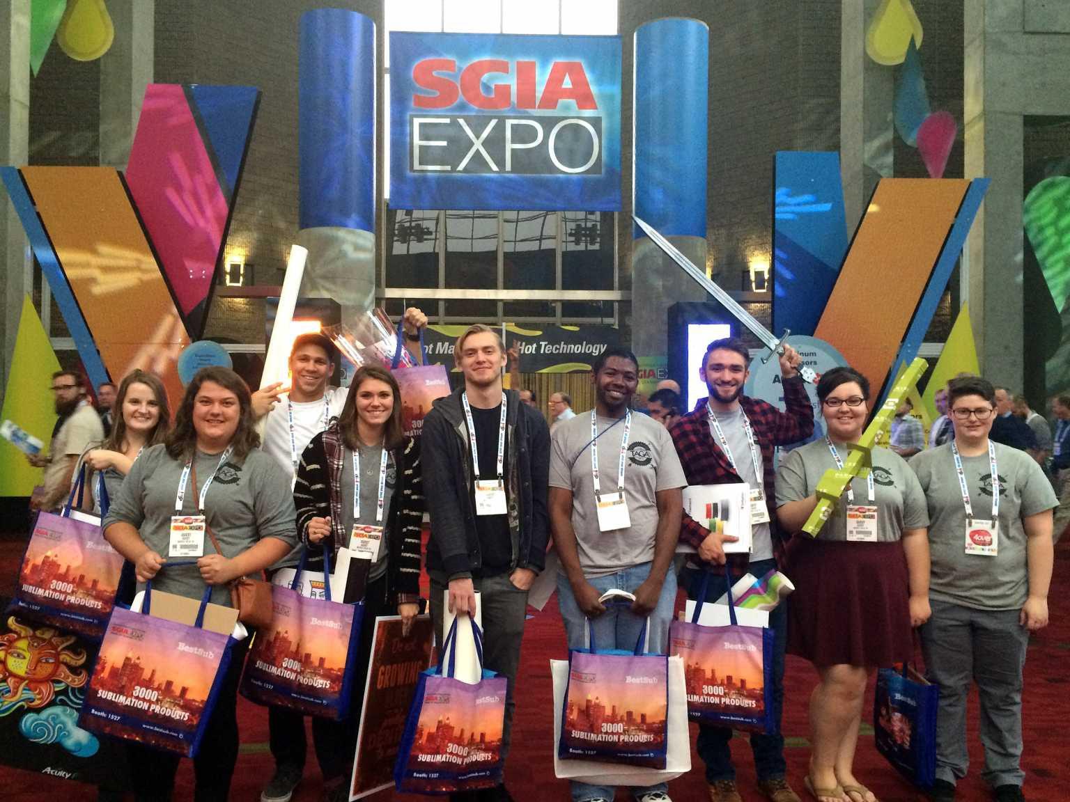 Students at SGIA Expo 2015