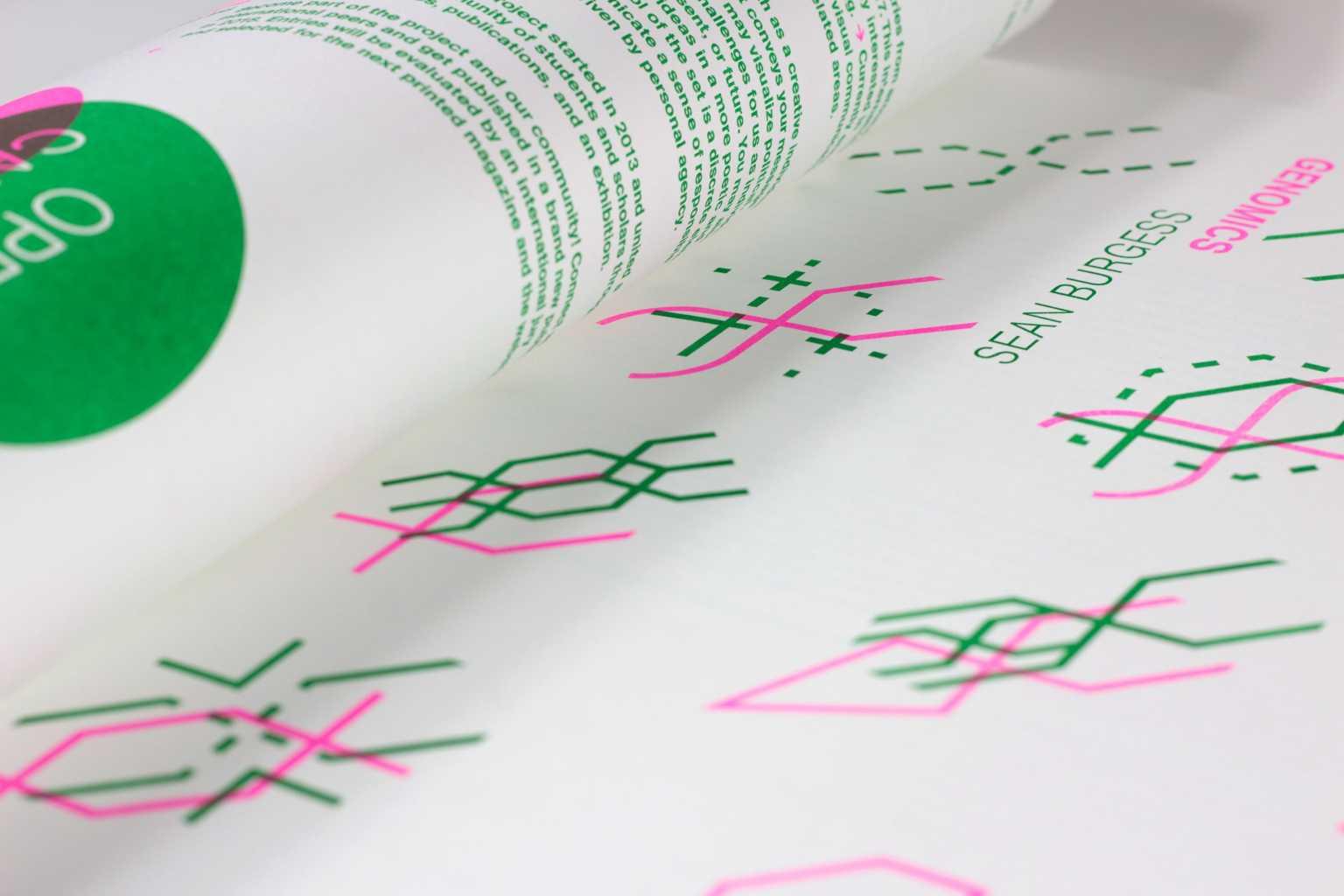 Detail of 45 symbols representing genomics
