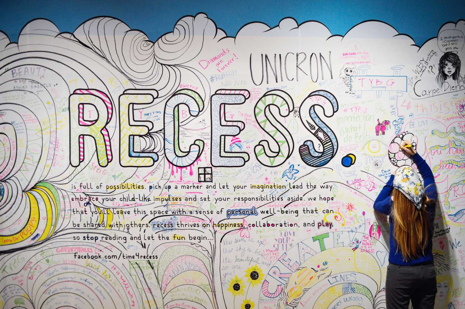 Installation view of Recess
