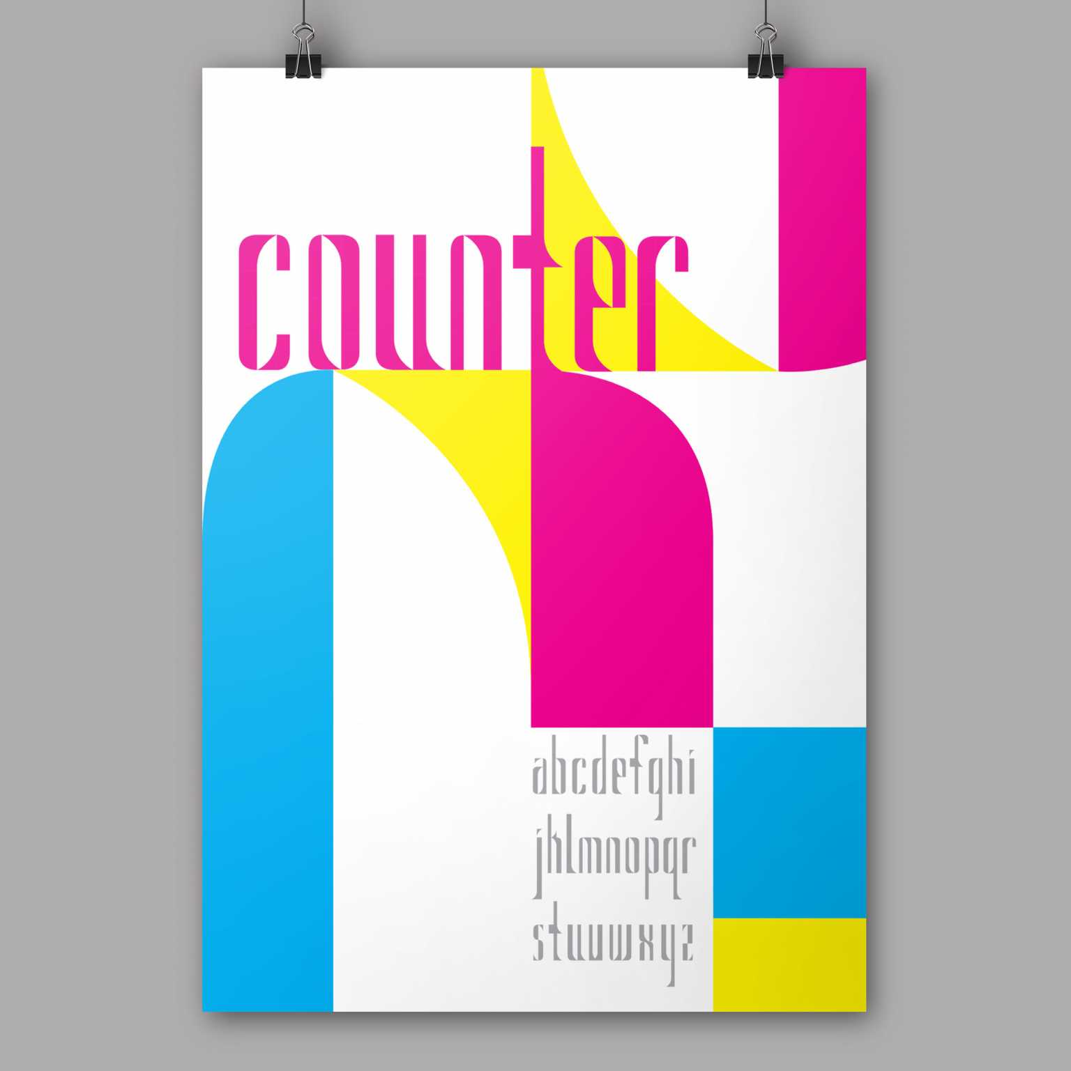 Counter modular typeface