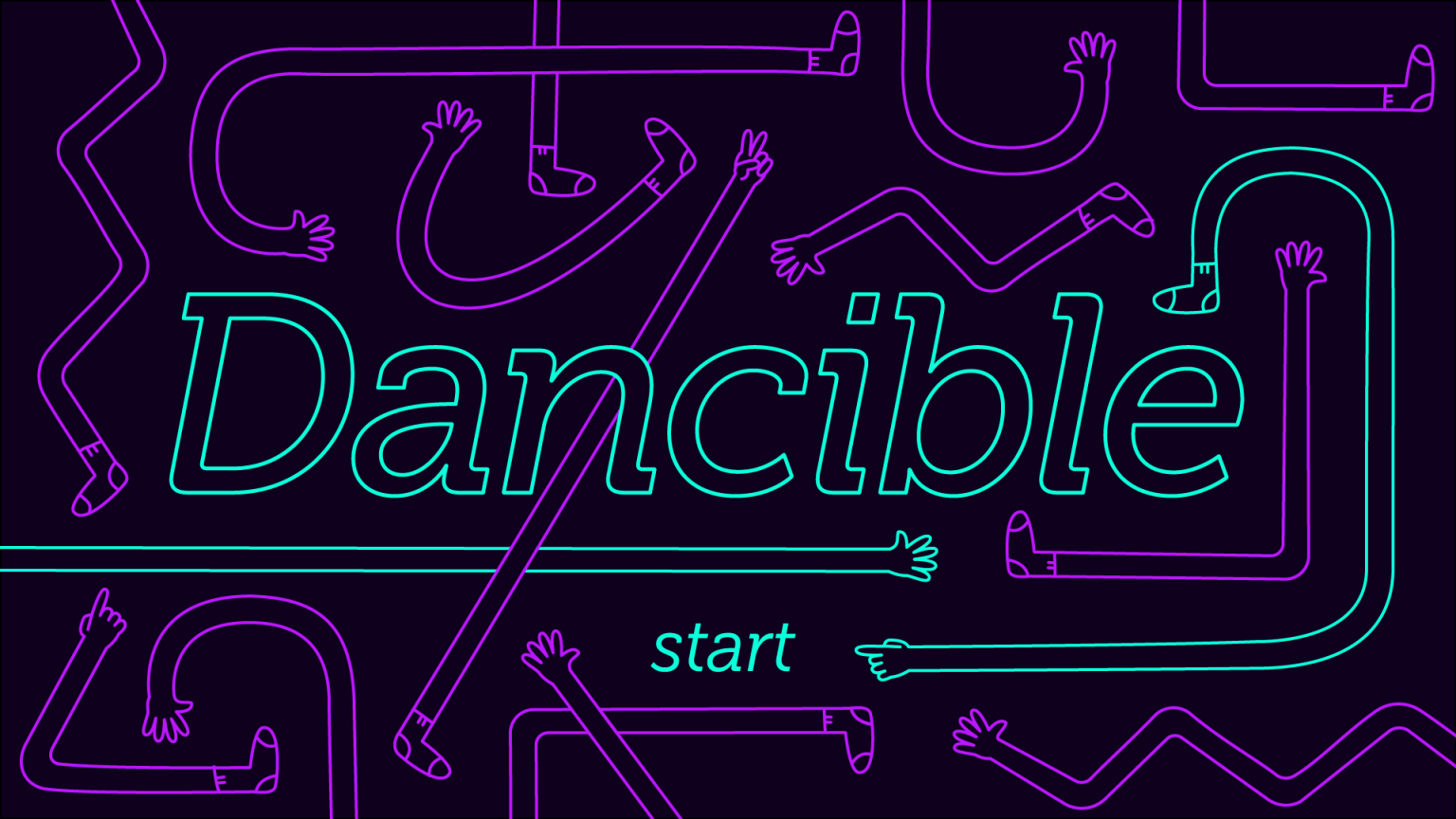 Dancible start screen