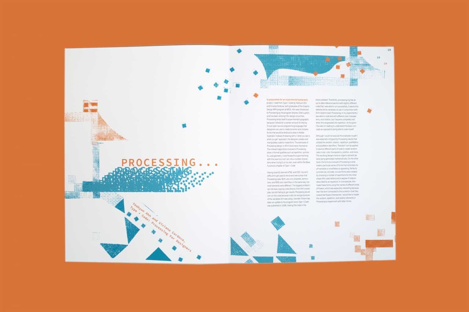 Spread from Reflection of Practice book