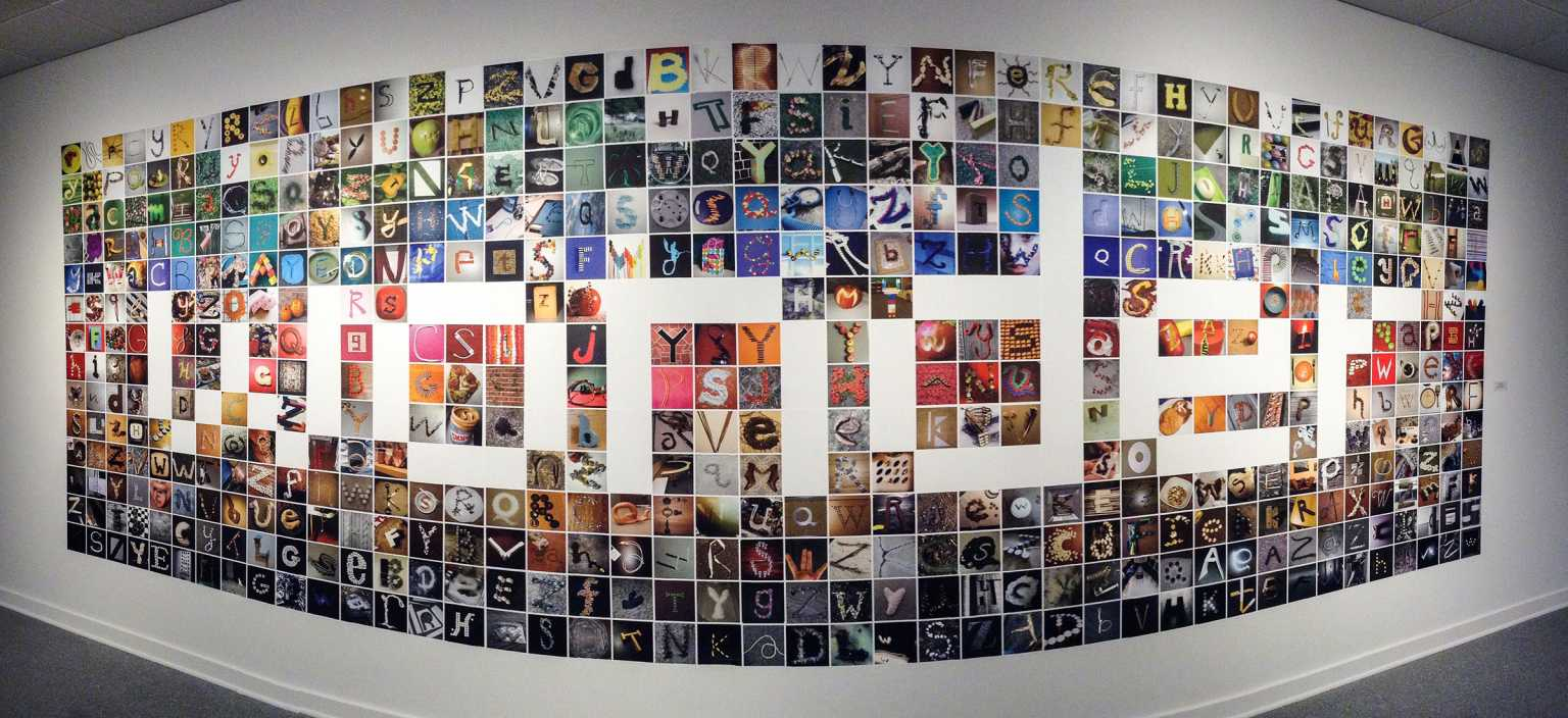 Wonder, an installation of letterform design projects
