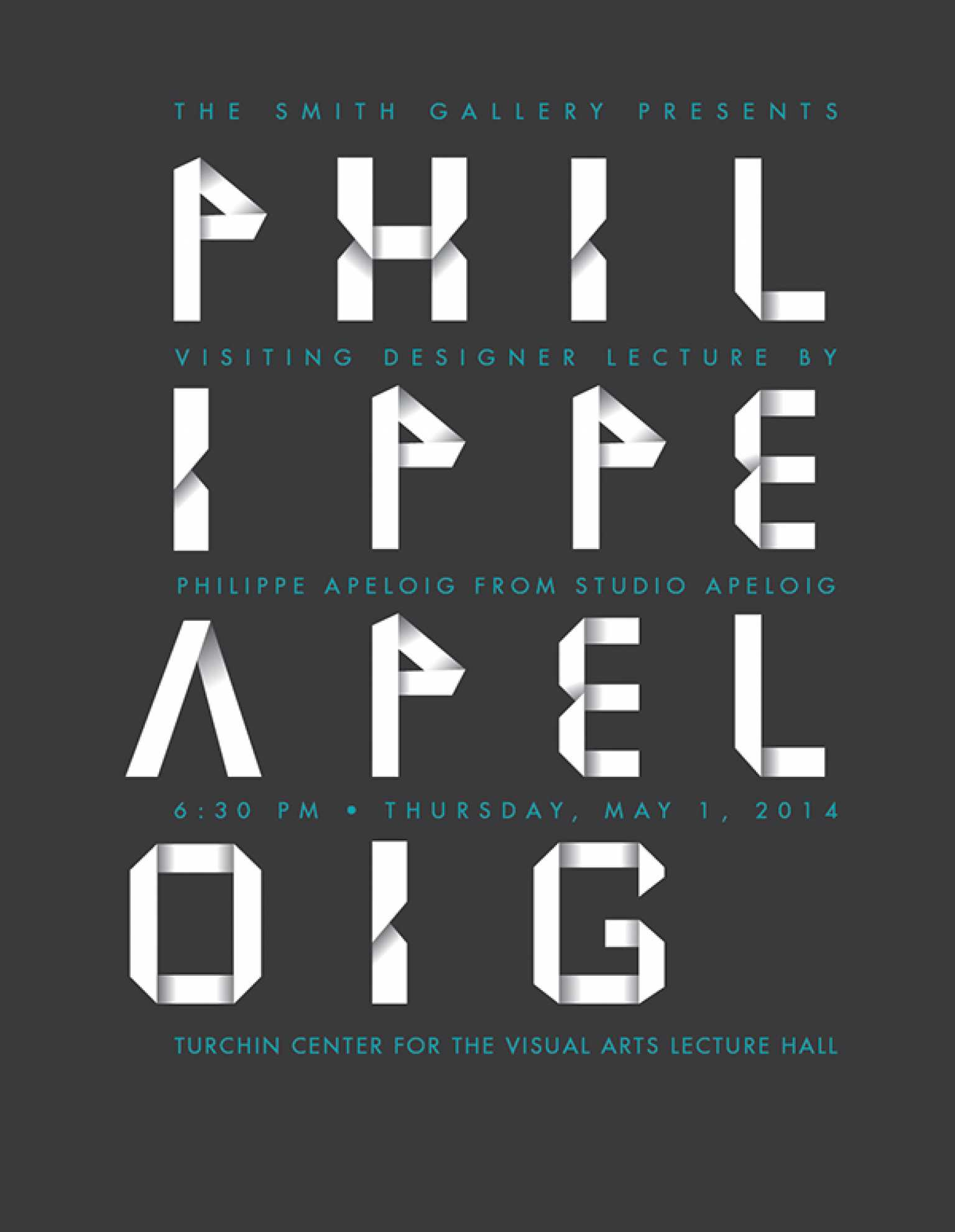 Philippe Apeloig lecture Poster