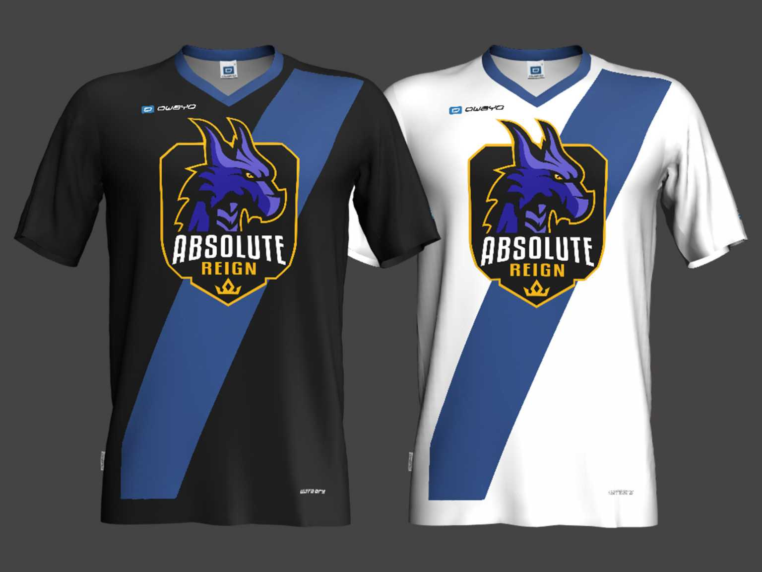 Jerseys for Absolute Reign, an E-Sports team
