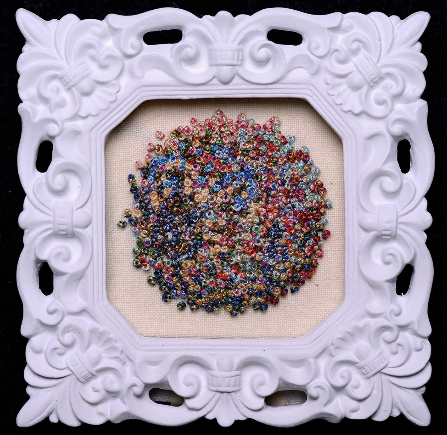 Five Hundred and Ninety-Five French Knots