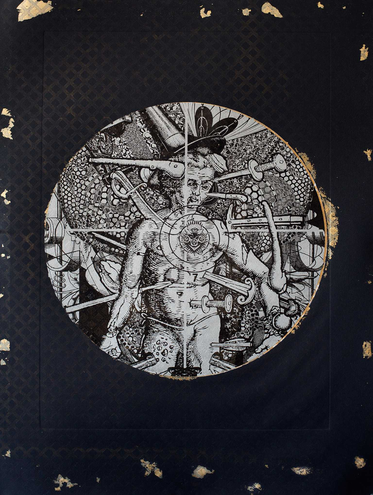 Targeted Tondo '(Eclipsed in Silver and Gold)'