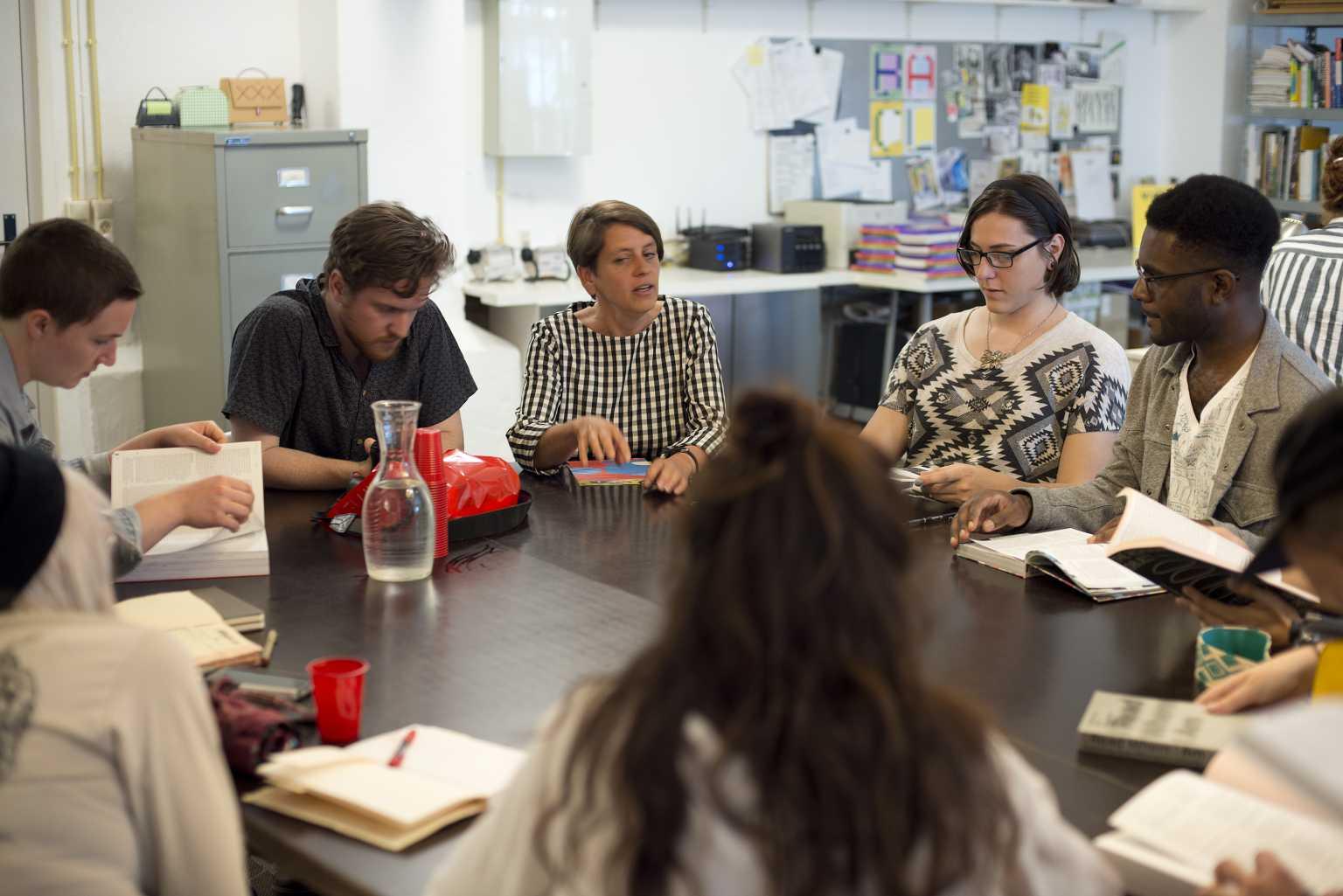 Students at Valiz Book Publisher Presentation