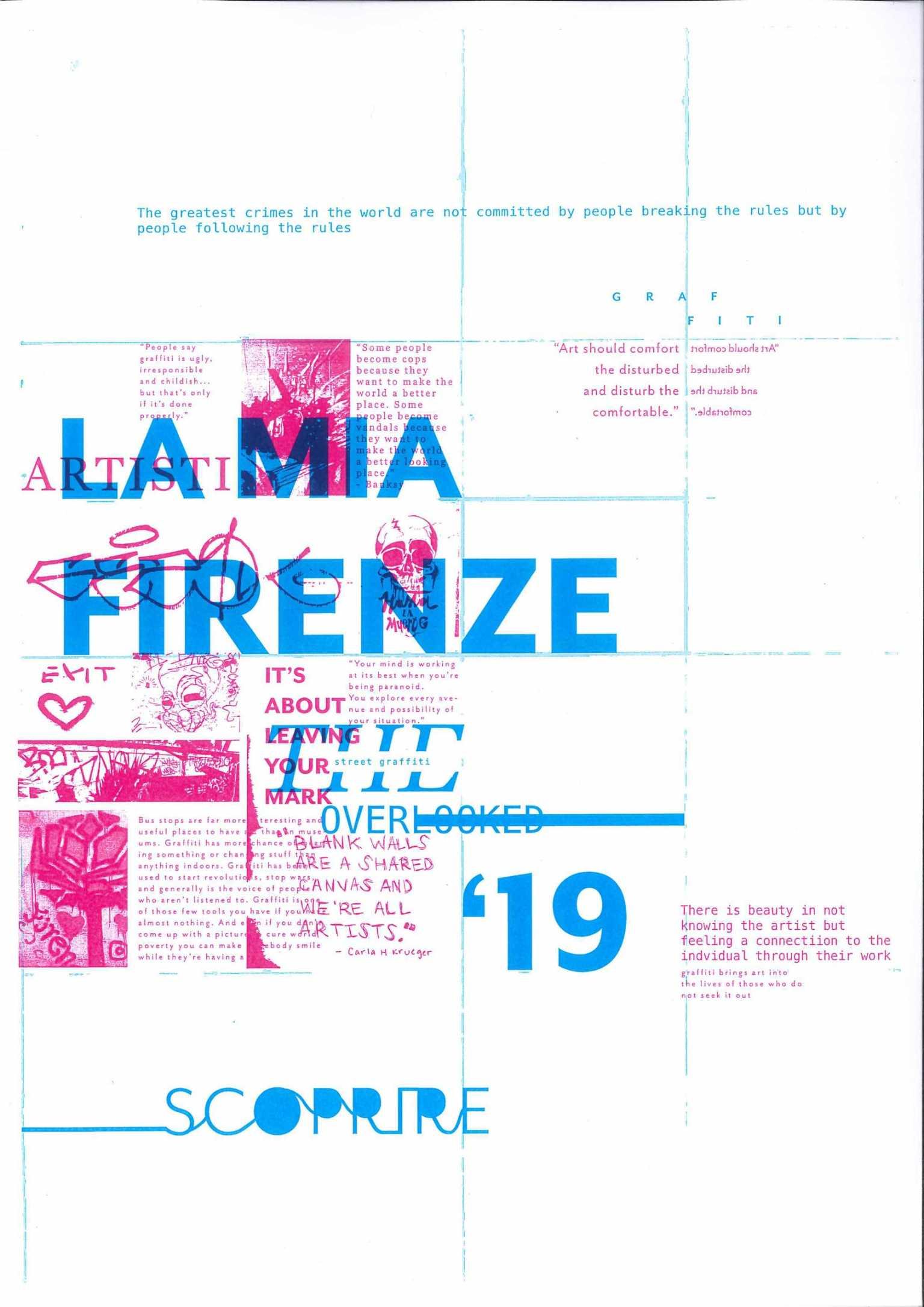 La Mia Firenze, street art of Florence poster