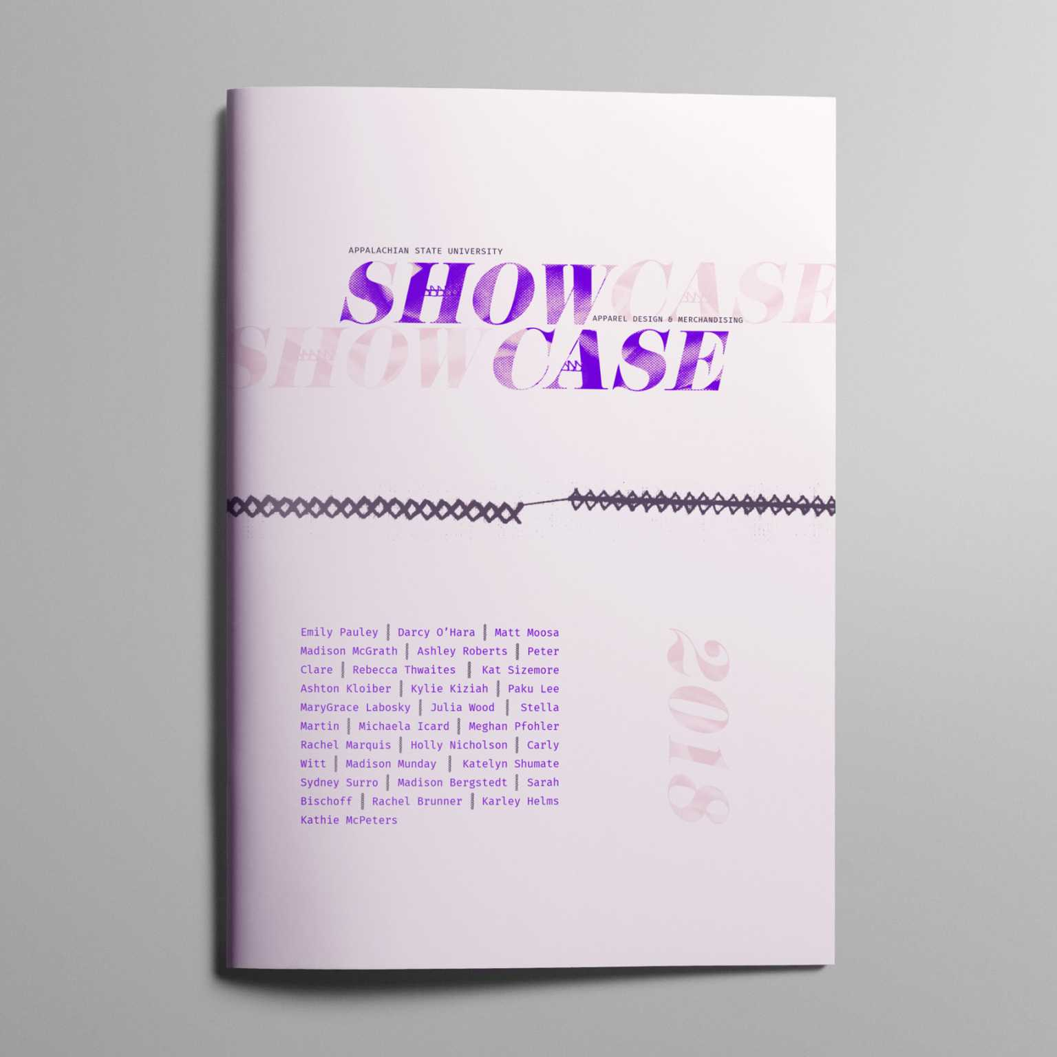Program Cover for Showcase, the Apparel Design and Merchandising Program's annual fashion show
