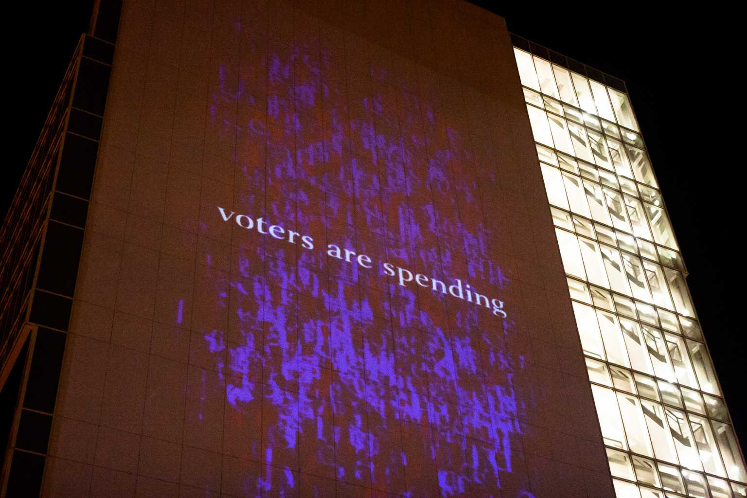 "Projection of ""The Political Reporter"" during 2012 Democratic National Convention in Charlotte"