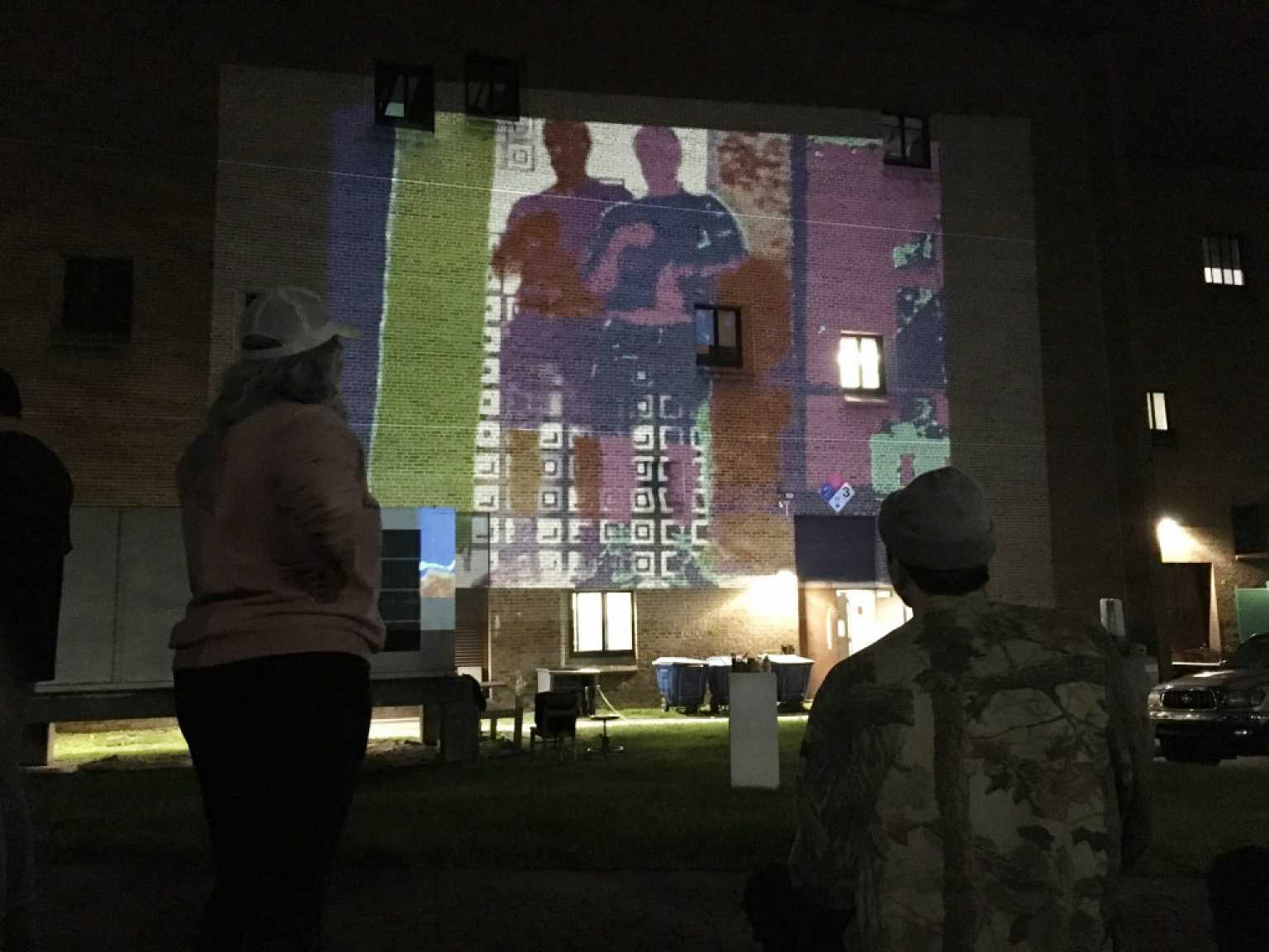 Outdoor Video Projection