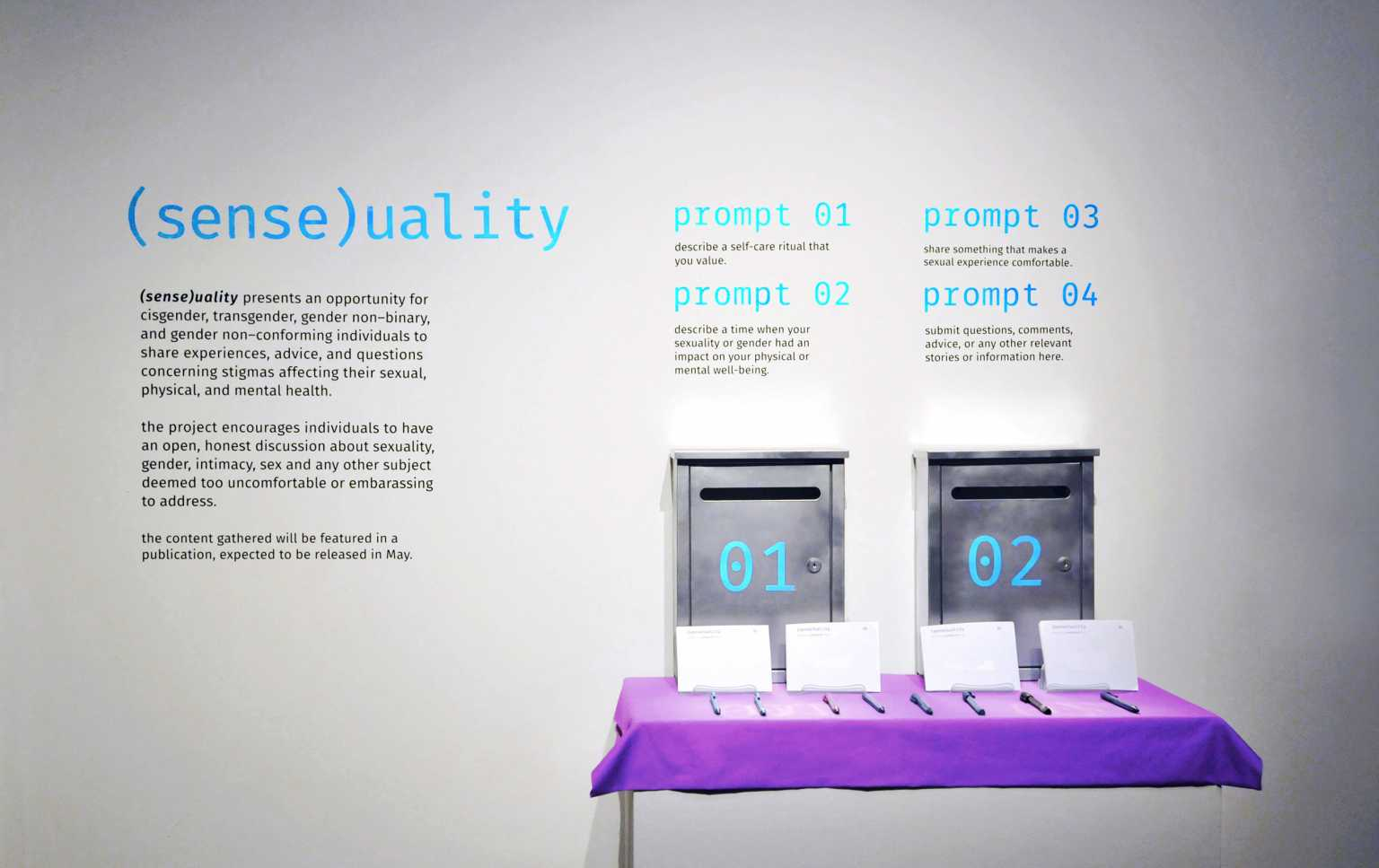 Installation view of Sense(uality)