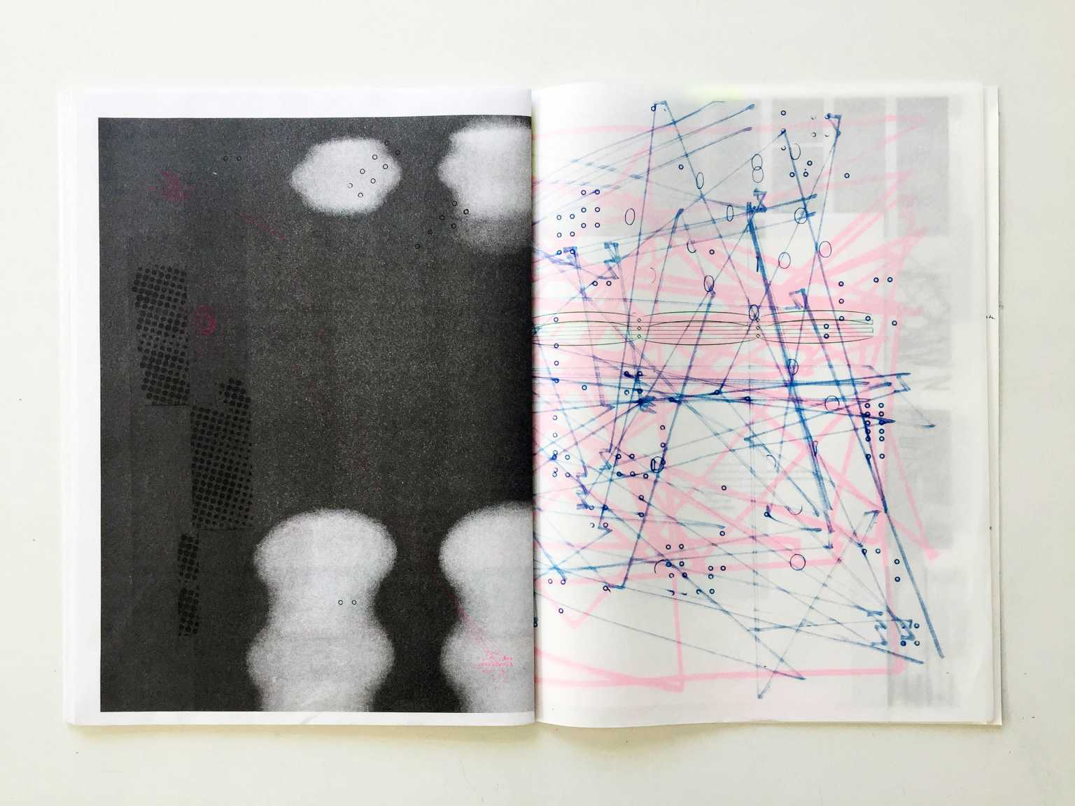 Spread from Slot Artist Book