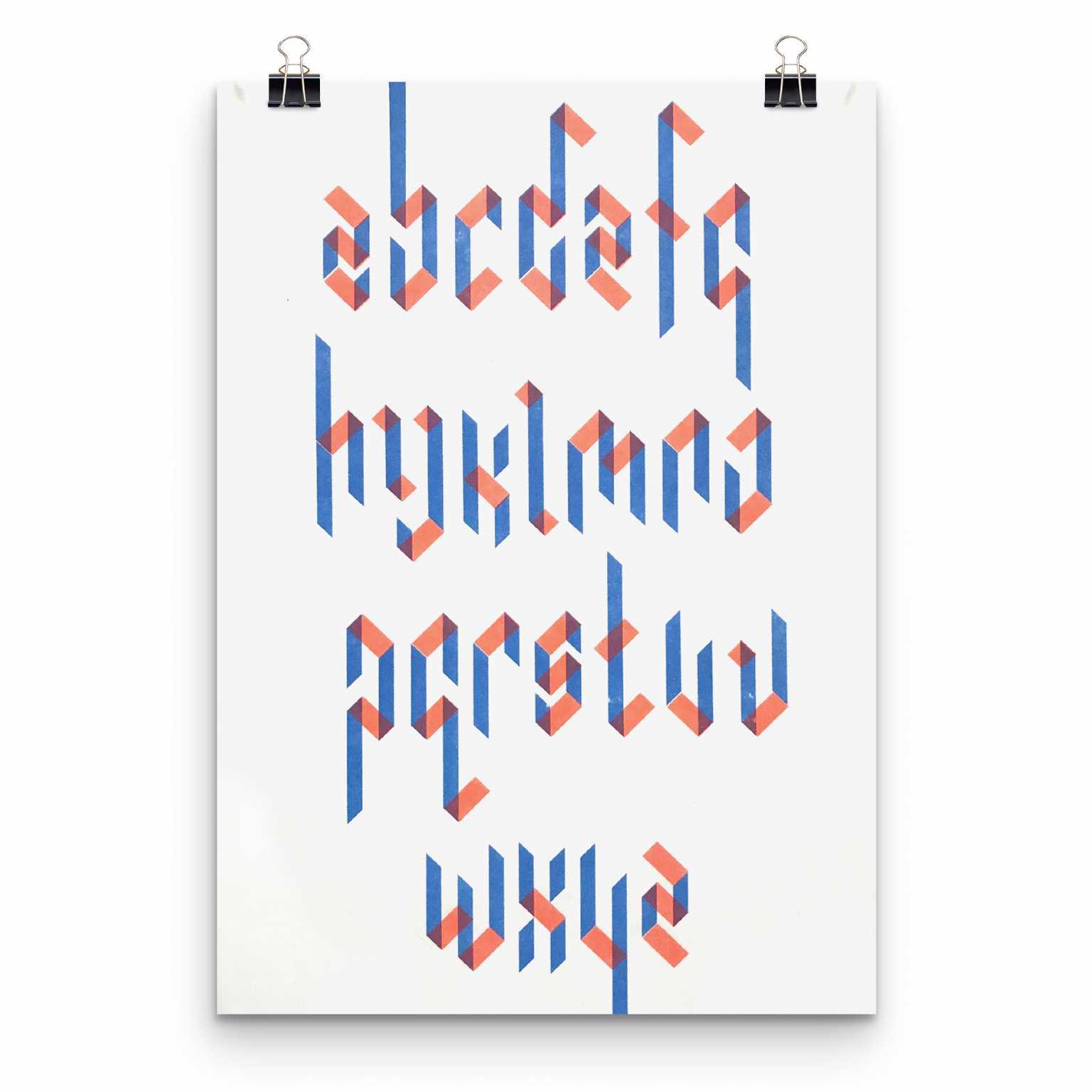 Chroma Gothic type specimen poster