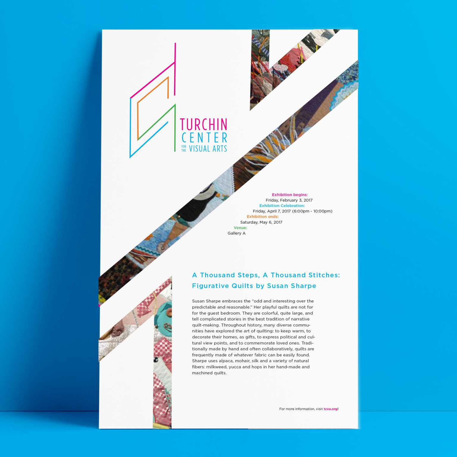 Proposed Poster as part of rebranding for Turchin Center for the Visual Arts