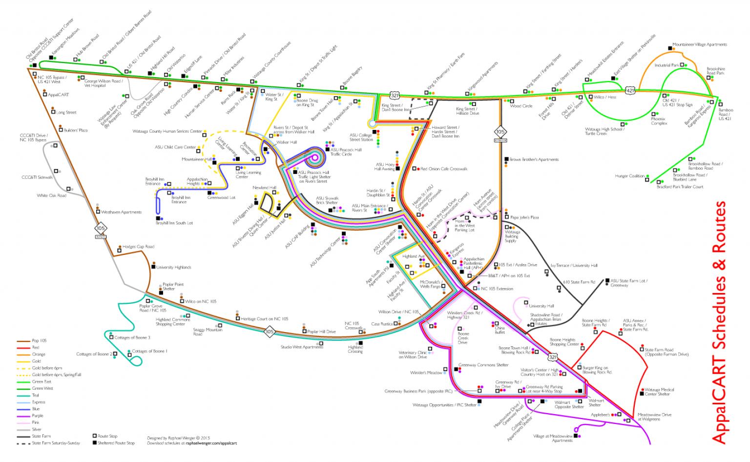 Appalcart Map
