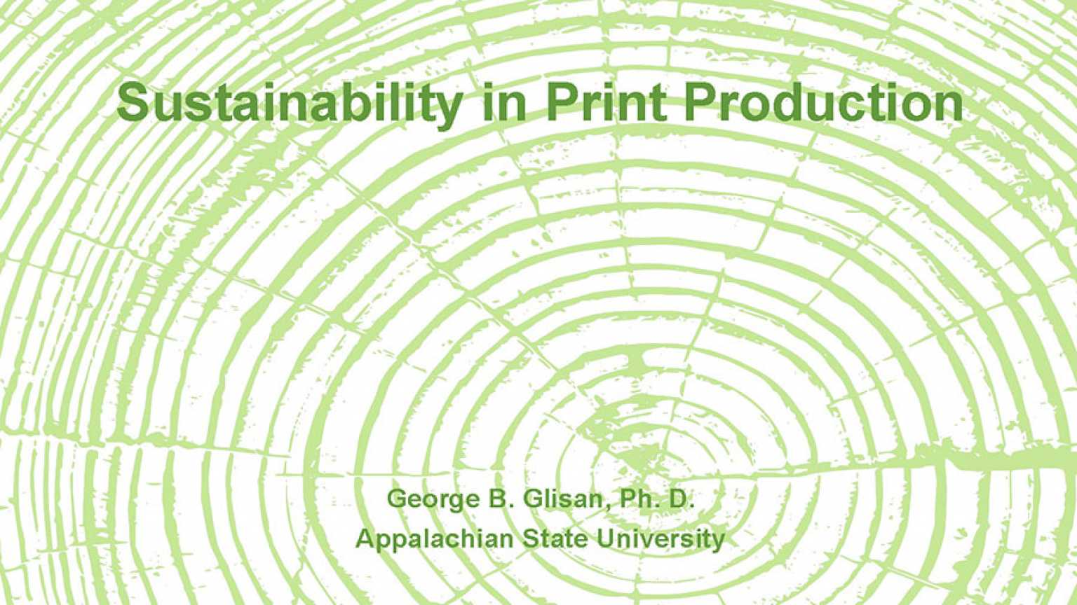 Sustainability and Print Production poster