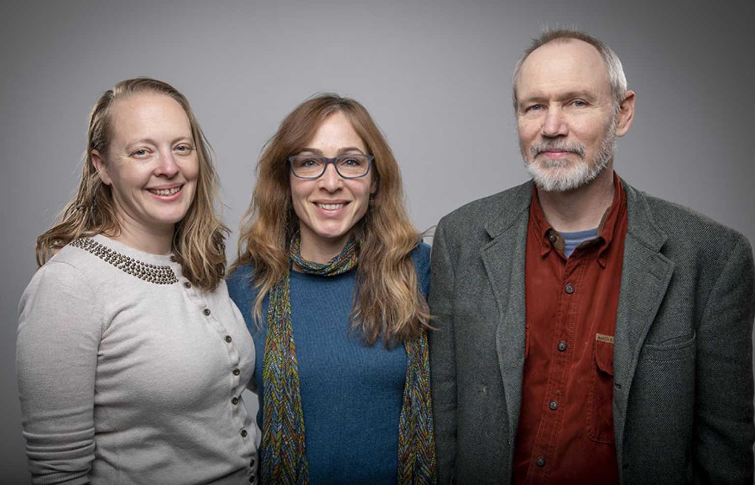 Jennie Carlisle, Laura England, Dr. Derek Davidson