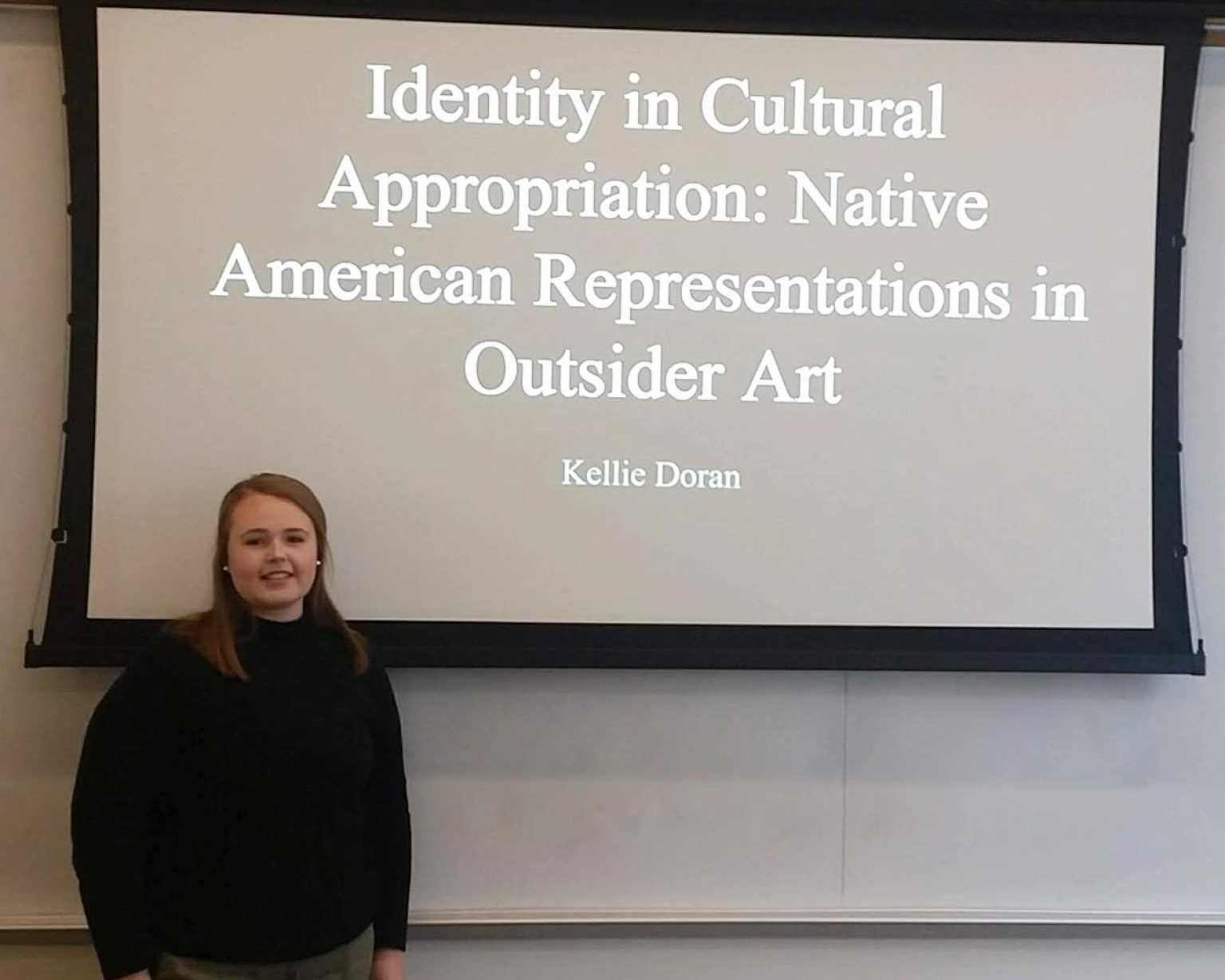 Kellie Doran defends her Honors thesis