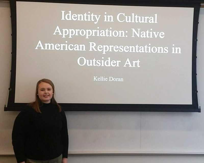 Kellie Doran defends her Honors thesis