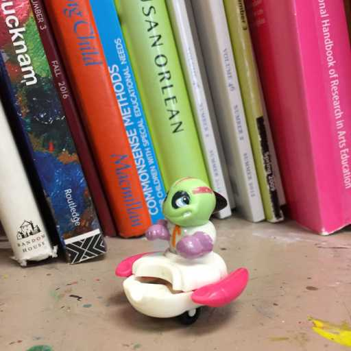 Toy and books in Vicky Grube's office
